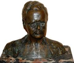 Self-Portrait by Robert Zachetti; bronze;