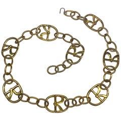 Roberta di Camerino 1960s / 1970s Wide Gold Logo Belt