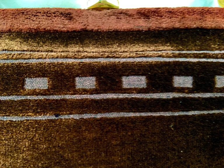 Roberta di Camerino Brown Velvet Clutch Shoulder Bag or Top Handle Bag For Sale 6