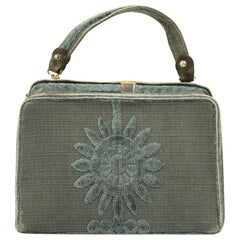 Roberta Di Camerino Green Canvas Vintage Bag, 1960s