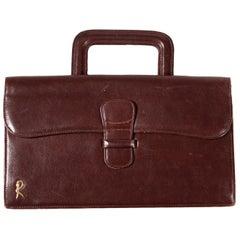 Roberta di Camerino Leather Handbag, Venice, Italy, 1960s-1970s