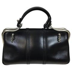 Roberta di Camerino Rare Black Leather Handbag