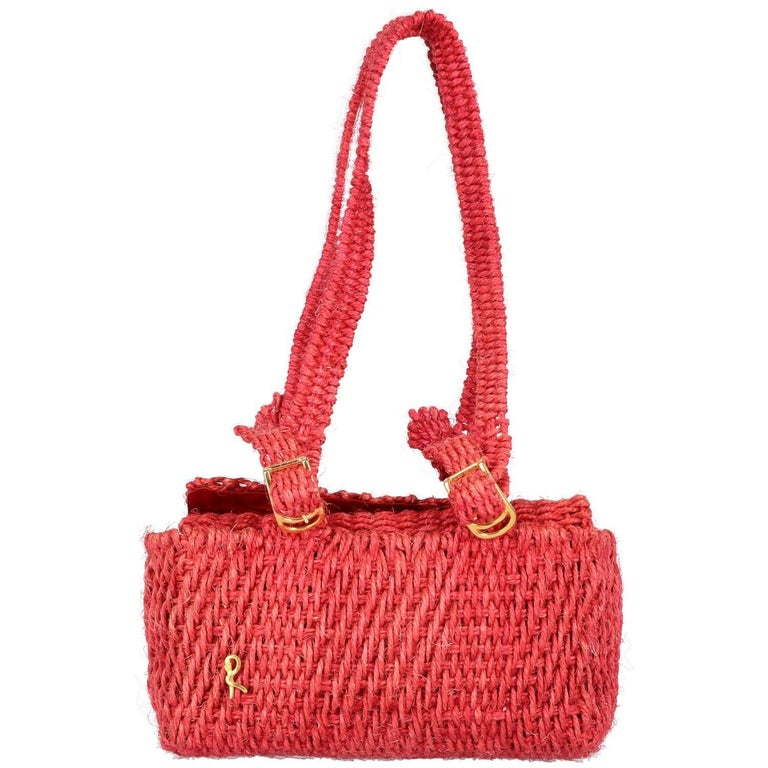 Roberta Di Camerino Vintage Straw Bag 1960s For
