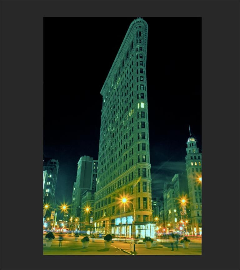 The Flatiron, New York City, Contemporary Color Landscape Night Photography For Sale 1