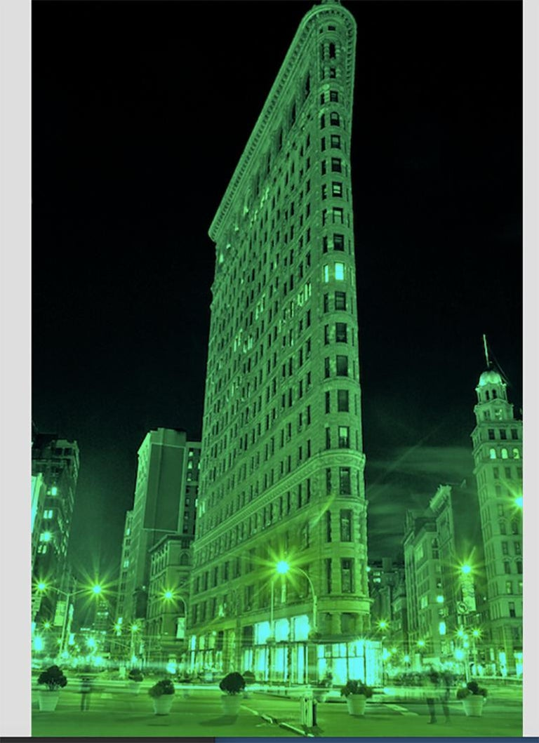 The Flatiron, New York City, Contemporary Color Landscape Night Photography For Sale 2