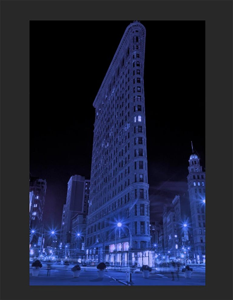 The Flatiron, New York City, Contemporary Color Landscape Night Photography For Sale 3