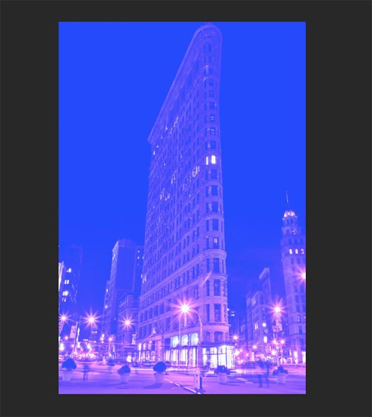 The Flatiron, New York City, Contemporary Color Landscape Night Photography For Sale 4