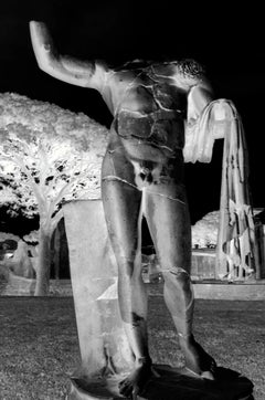 Fragments, Rome, Italy, A Monochromatic Negative Photograph of Antiquities