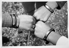 Girls and Friendship, Black and White Photography of Horseback Riders' Bracelets