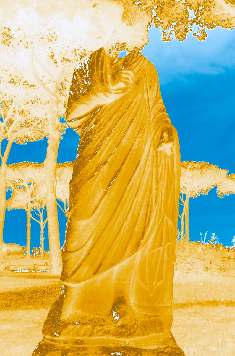 Roman God(dess) I, Rome, Italy, Color Photography of Greco-Roman Sculpture
