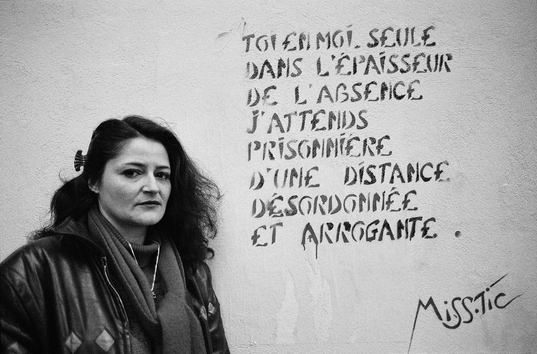Miss.Tic, Paris,  Portrait Photograph of French Graffiti Artist