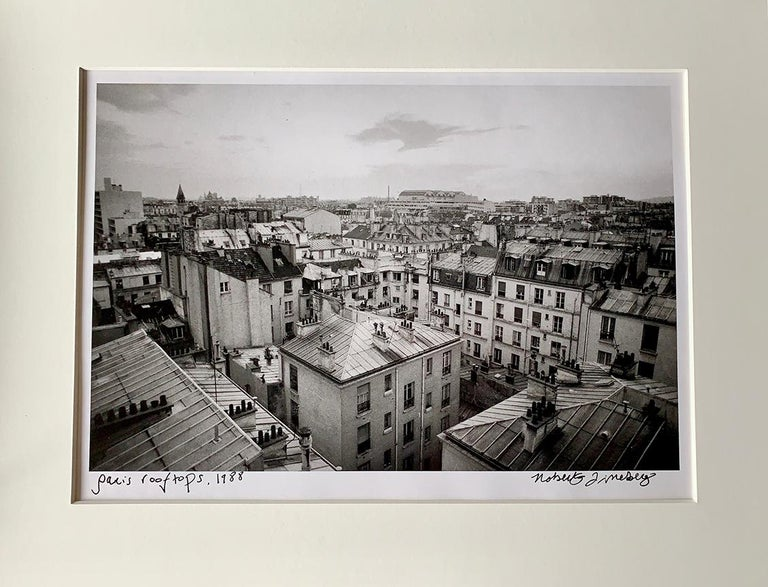 Roberta Fineberg Black and White Photograph - Paris Rooftops, France, Black and White Landscape Architectural Photo