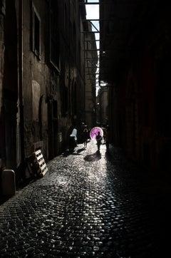 Roman Sun Shower, Italy, Contemporary Color Landscape Street Photography