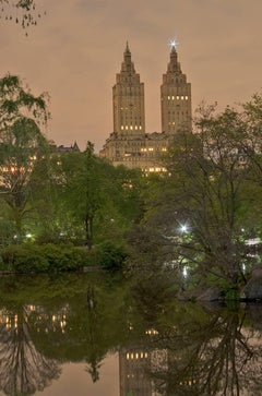 Twin Greek Temples (Dusk), New York City Architecture, Skyline and Central Park