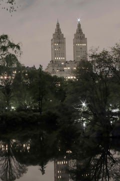 Twin Greek Temples (Nightfall), San Remo, New York City Cityscape Photography