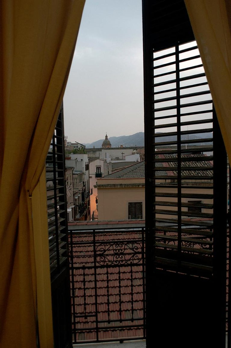 Roberta Fineberg Color Photograph - View From My Window, Palermo, Sicily, Contemporary Landscape Photography, Italy