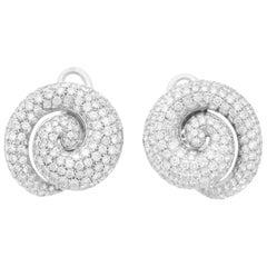 Roberta Porrati 12.70 Carat Diamonds Spiral Earrings