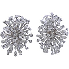 Roberta Porrati 4.60 Carat Diamond Gold Cocktail Earrings