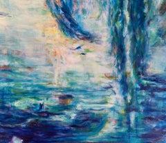 Roberta Tetzner, Catching Dreams, Original Mixed Media Painting, Affordable Art