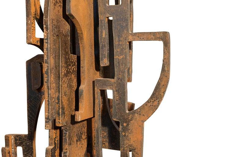 Roberto Aloi,  Sculpture,  Metal,  circa 1965, Italy.  Measures: Height 158, Width 54 cm, Depth 30 cm.