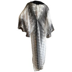 Roberto Cavalli Beachwear Silk Zebra Pattern Caftan Size L New with Tags