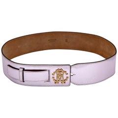 Roberto Cavalli Beautiful Metalic Pink Leather Belt
