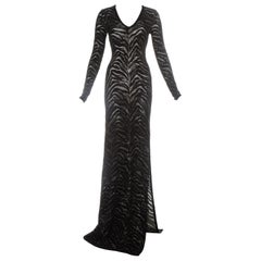 Roberto Cavalli black and gold lurex knitted evening dress, c. 2000