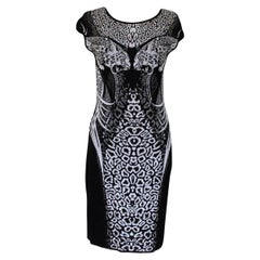 Roberto Cavalli Black and White Dress IT 42