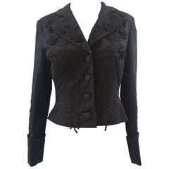Roberto Cavalli black cotton jacket