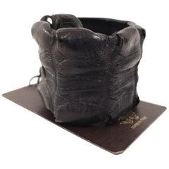Roberto Cavalli black croco bracelet NWOT