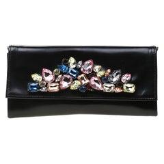 newest 563e6 85631 Roberto Cavalli Midnight Blue Velvet Pochette Clutch Bag For ...