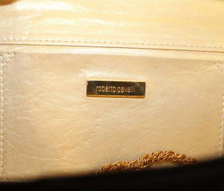 Roberto Cavalli Black Satin Clutch Bag  For Sale 3