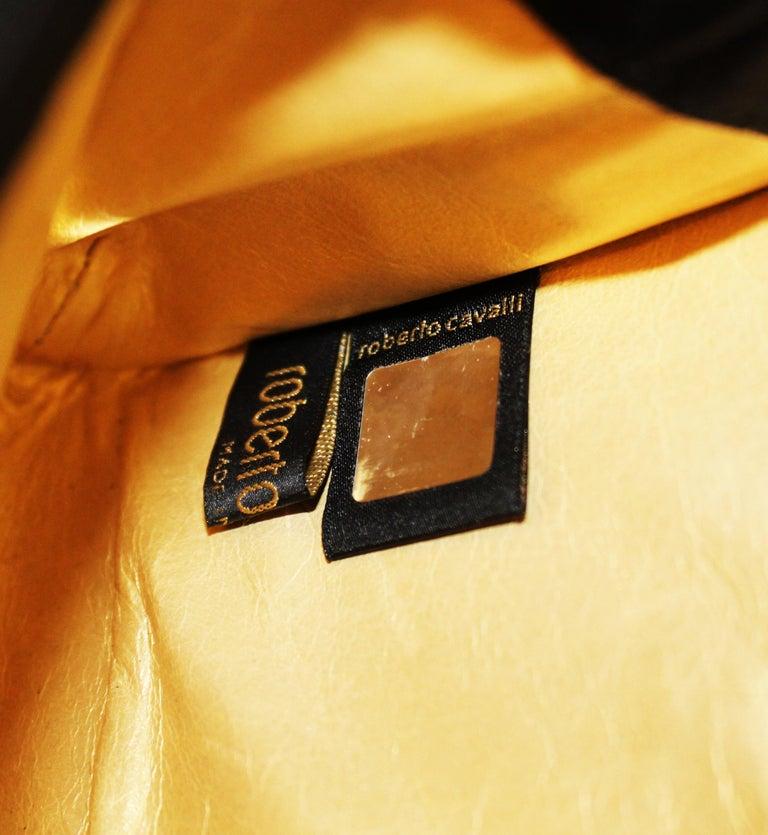 Roberto Cavalli Black Satin Clutch Bag  For Sale 4