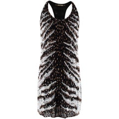 Roberto Cavalli Black Sequin Embellished Mini Dress US4