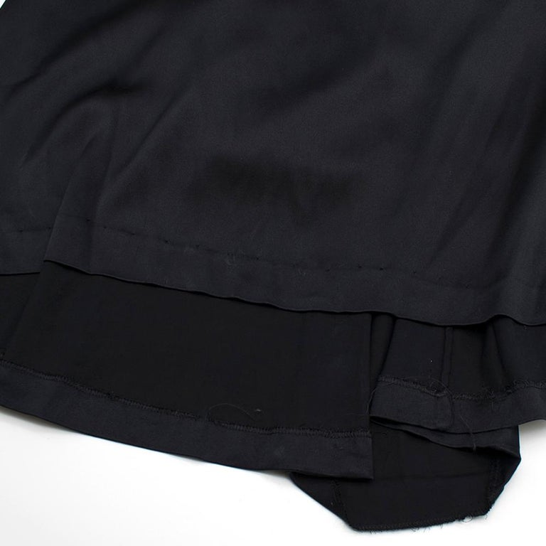 Roberto Cavalli Black Silk Blend Lace Trim Gown SIZE UK 10 For Sale 4