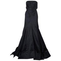 Roberto Cavalli Black Silk Evening Gown M