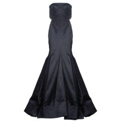 Roberto Cavalli Black Silk Evening Gown M