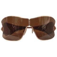 Roberto Cavalli brown mask sunglasses