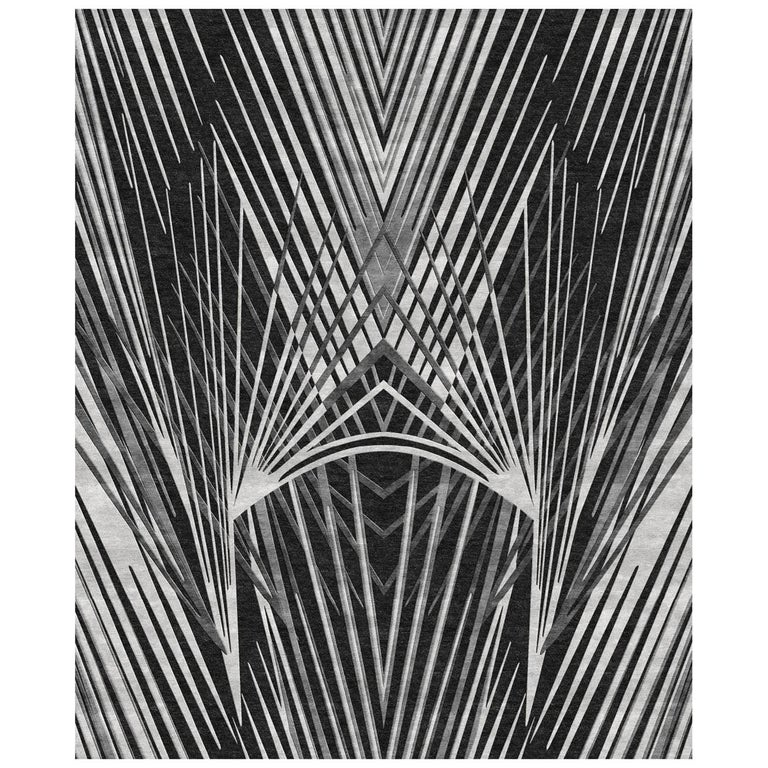 Charlize Rug HandKnotted in Wool and Viscose by Roberto Cavalli Home Interiors For Sale