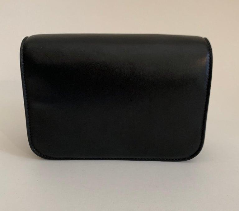 Roberto Cavalli Circus Purse Black Leather Gold Animal Embellishment Chain Strap For Sale 2