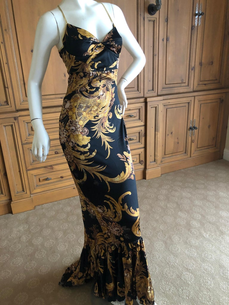 1878ee88d2ca2 Roberto Cavalli Elegant Fishtail Mermaid Back Evening Dress for Just Cavalli  In Excellent Condition For Sale