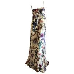 Roberto Cavalli Elegant Silk Dragon & Unicorn Print Dress for Just Cavalli Sz 46