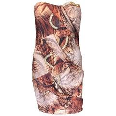 Roberto Cavalli Embellished Serpent Snake Bustier High Low Train Evening Dress