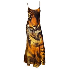 Roberto Cavalli F/W 2000 Tiger Print Runway Dress