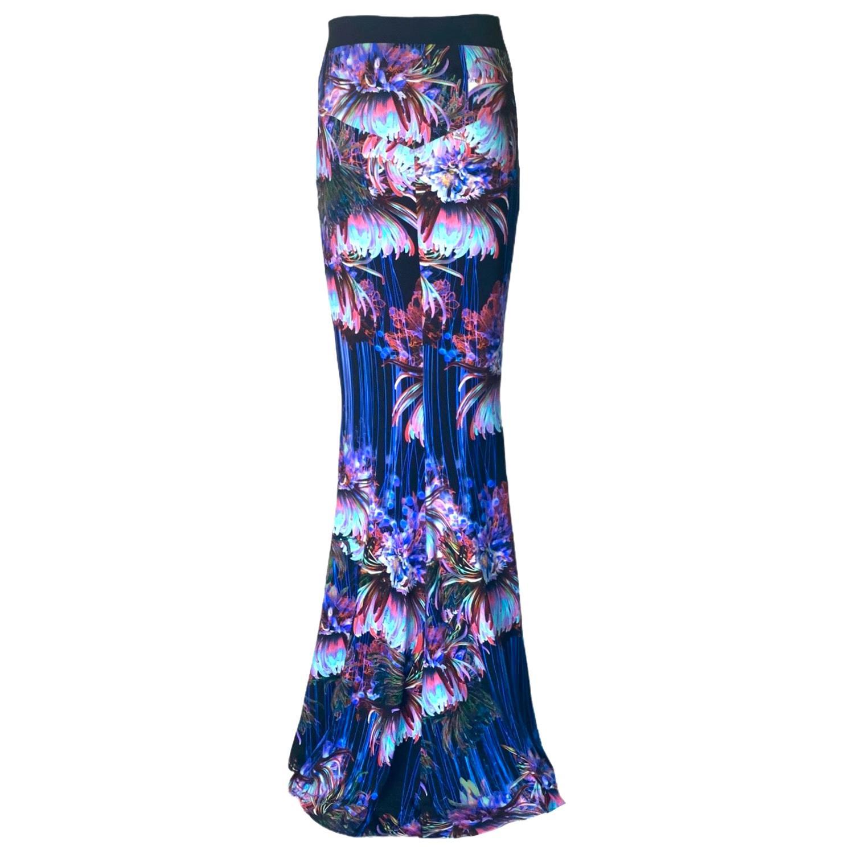 Roberto Cavalli Floral Pop Art Printed Evening Maxi Skirt