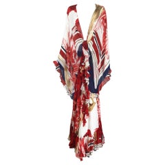 Roberto Cavalli Flowing Bias Cut Silk Maxi Skirt & Matching Shawl