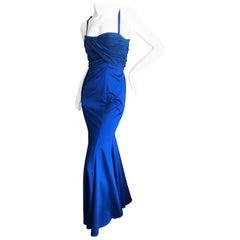Roberto Cavalli for Just Cavalli Elegant Midnight Blue Evening Dress