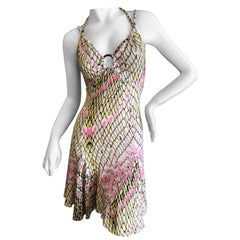 Roberto Cavalli for Just Cavalli Reptile Print Mini Dress with Skater Skirt
