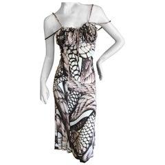 Roberto Cavalli for Just Cavalli Snake Print Cocktail Dress