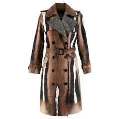 Roberto Cavalli Fur Print Trench Coat - Size US 4